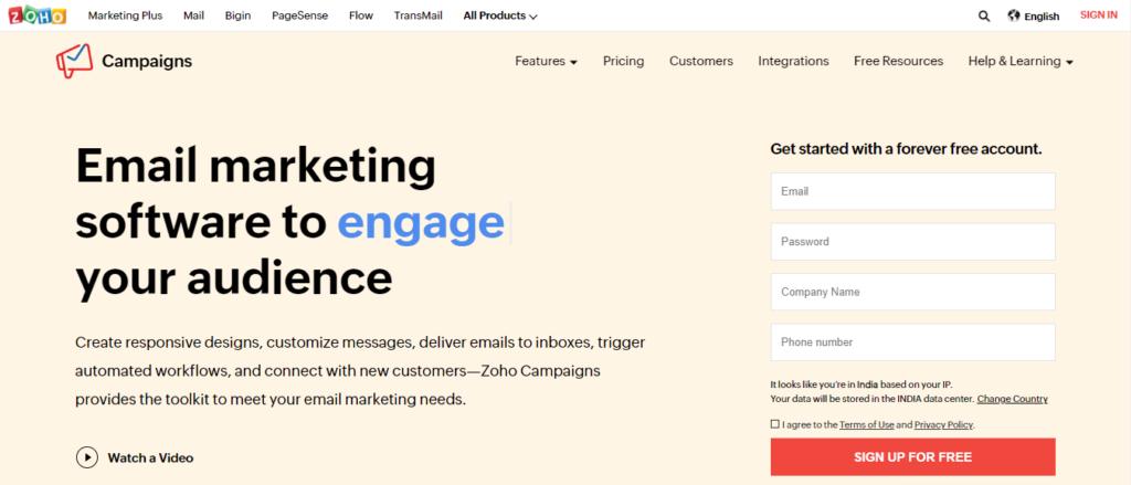 zoho-email-marketing-tool