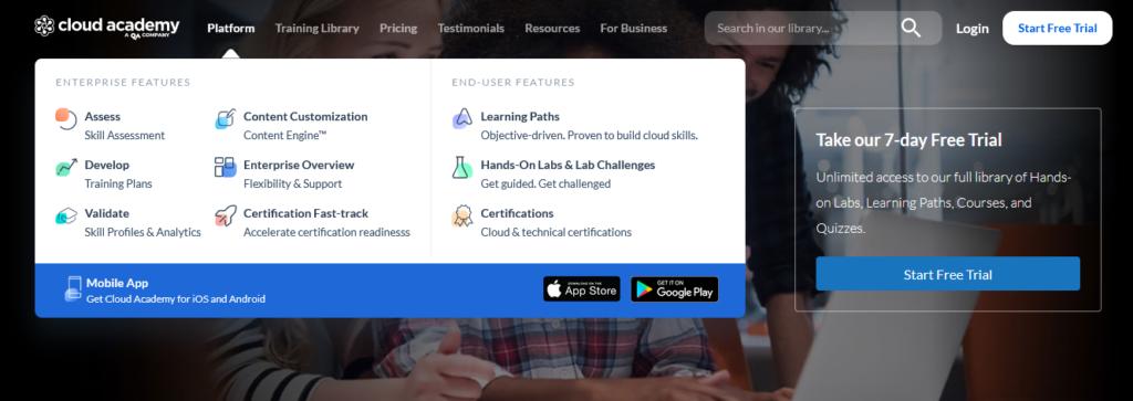 cloudacademy-platform-online-classes-platform-facilities
